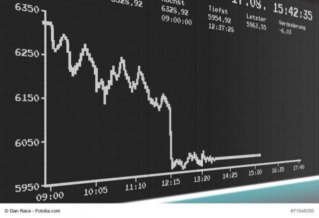 Börsenkurs im Keller nach Börsencrash