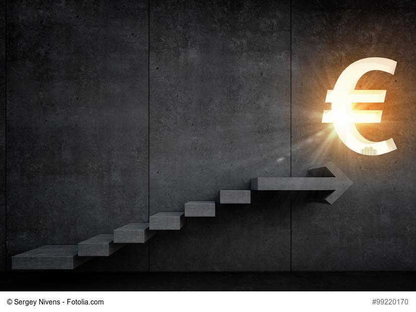 Leuchtendes Euro-Symbol