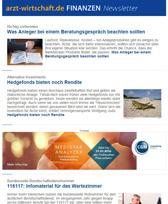 arzt-wirtschaft.de FINANZEN Newsletter