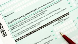 Deutsches Einkommensteuerformular / German tax form for the tax
