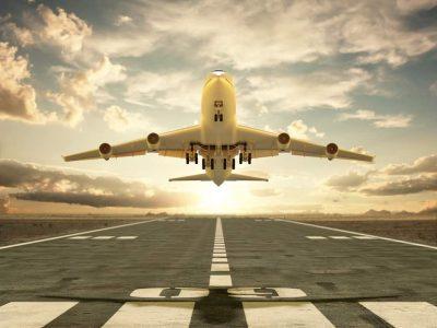 Flugzeug, Flughafen, Startbahn