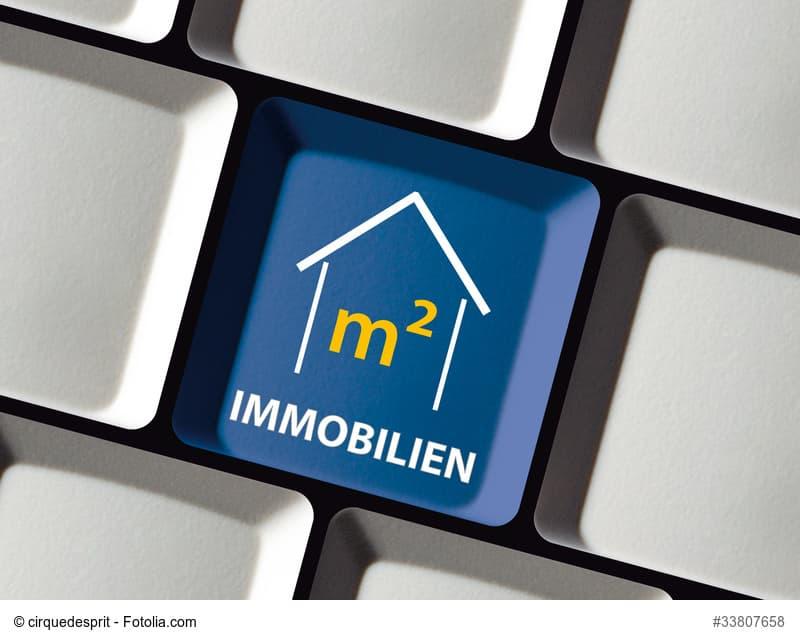 Haus-Symbol auf einer Computertastatur