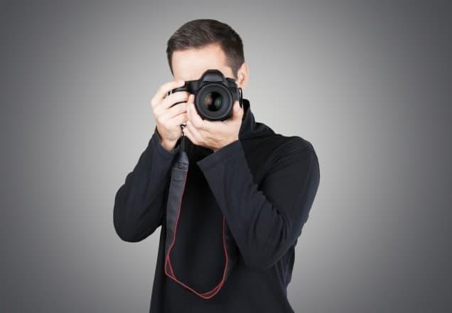 Fotograf mit Kamera