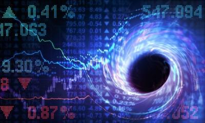 Ein Strudel, der Aktienkurse mit sich hinabreißt
