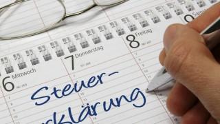 Steuererklärung im Kalender eingetragen