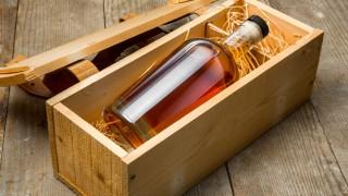 Whisky-Flasche in Geschenkverpackung