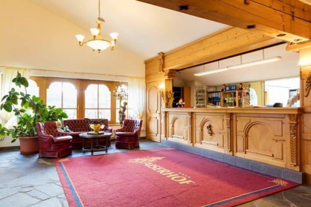 Empfangsbereich Hotel Kaiserhof