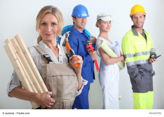 Handwerker mit Equipment
