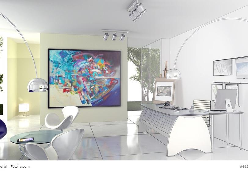 großes Gemälde in Büro oder Arztpraxis