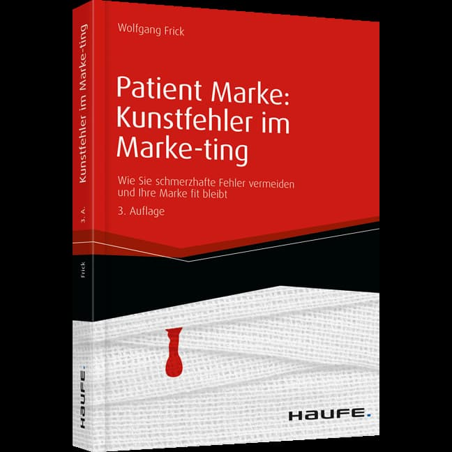 Buchcover Patient Marke: Kunstfehler im Marketing