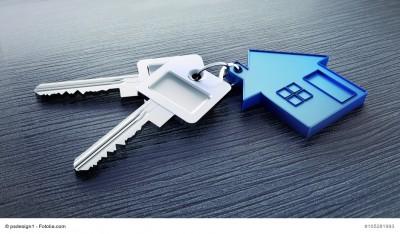 Schlüssel mit Haus-Anhänger