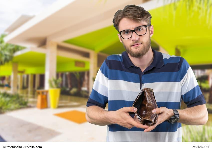 Tourist mit Geldbeutel
