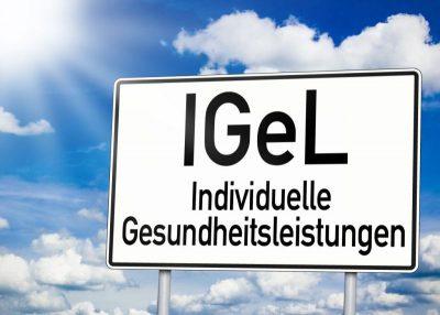 Schild mit IGeL-Schriftzug