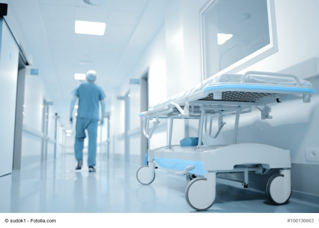 Walking doctor in hospital department