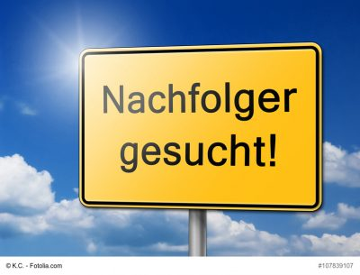 """Ein Schild mit der Aufschrift """"Nachfolger gesucht"""""""