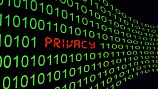 Privacy Schriftzug in Programmier-Code