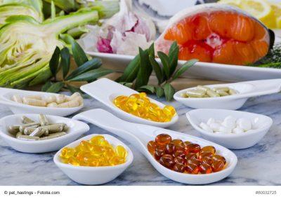 Auswahl an Nahrungsergänzungsmitteln
