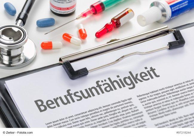 Infomaterial zur Berufsunfähigkeit und Medikamente
