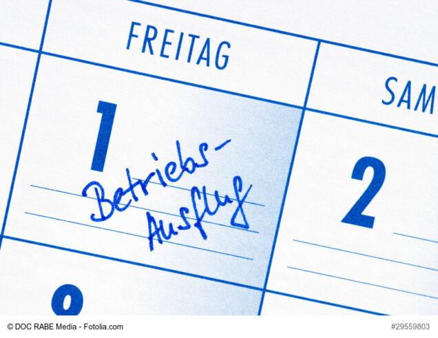 Eintrag Betriebsausflug im Kalender