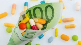 Tabletten und Einhundert Euroschein
