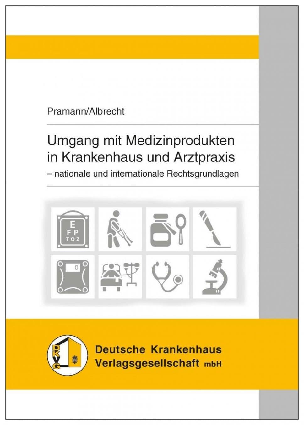 """Buchcover """"Umgang mit Medizinprodukten in Krankenhaus und Arztpraxis"""""""