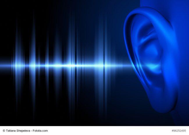 Frequenzsignal am Ohr
