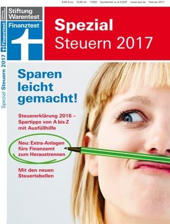 Titelcover Stiftung Warentest Spezial Steuern