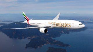 Boeing der Emirates Airline