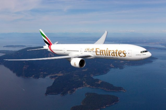 Boeing der Emirates Airline