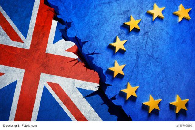 Flaggen England und Europa