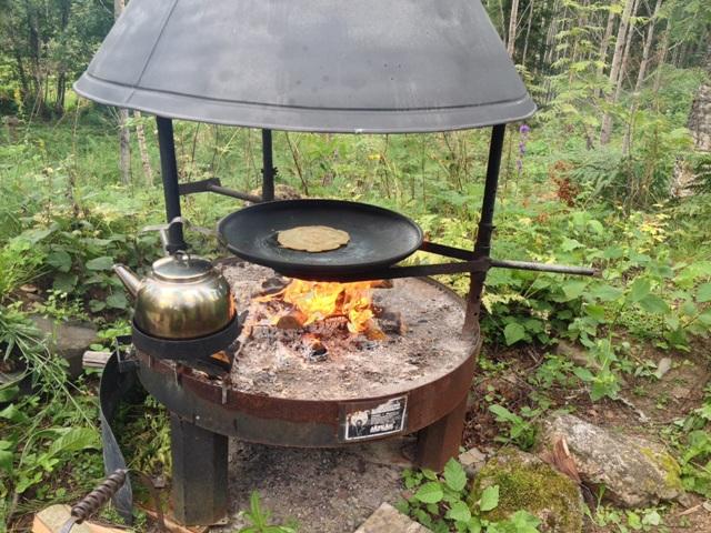 Feuerstelle in Finnland