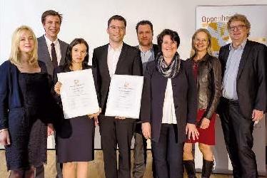 Verleihung des 8. Oppenheim-Förderpreises