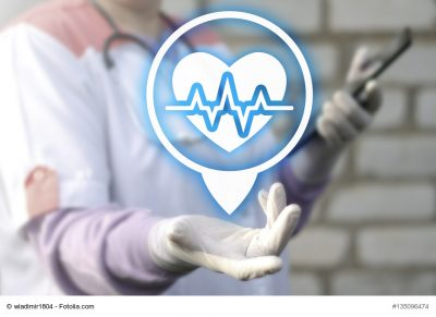 Medical health care institutions for the location concept. Heart pulse position icon. Hospital place web tablet computer gps road travel healthy clinic technology