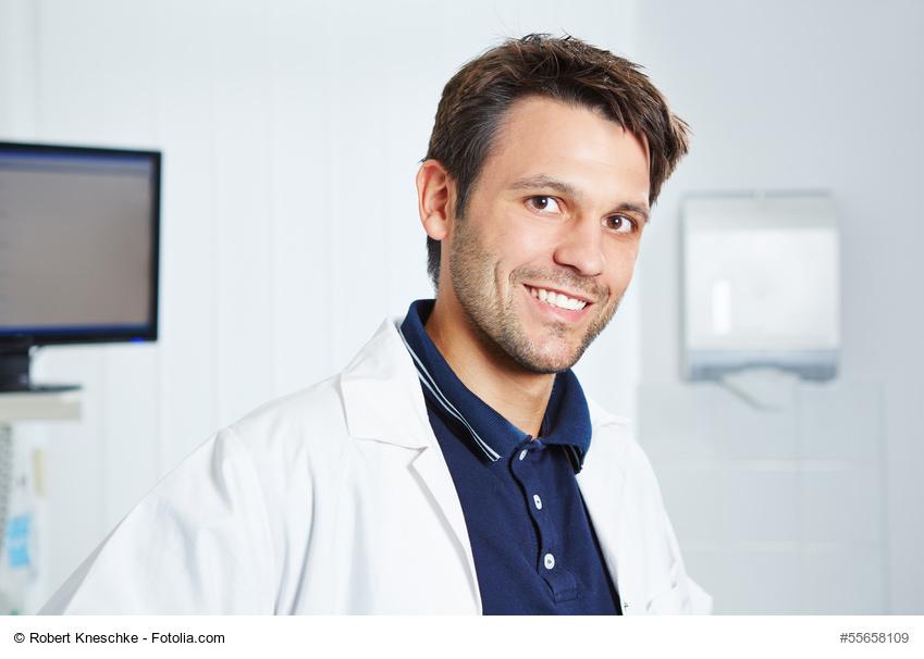 Portrait vom Arzt im Kittel