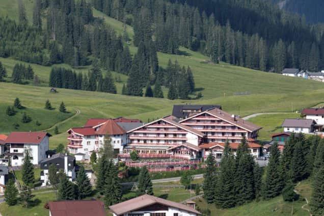 Außenansicht Hotel Kaiserhof in Berwang/Tirol