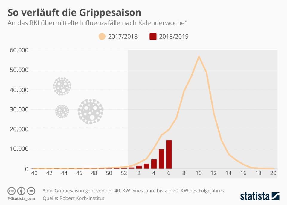 influenza fälle deutschland
