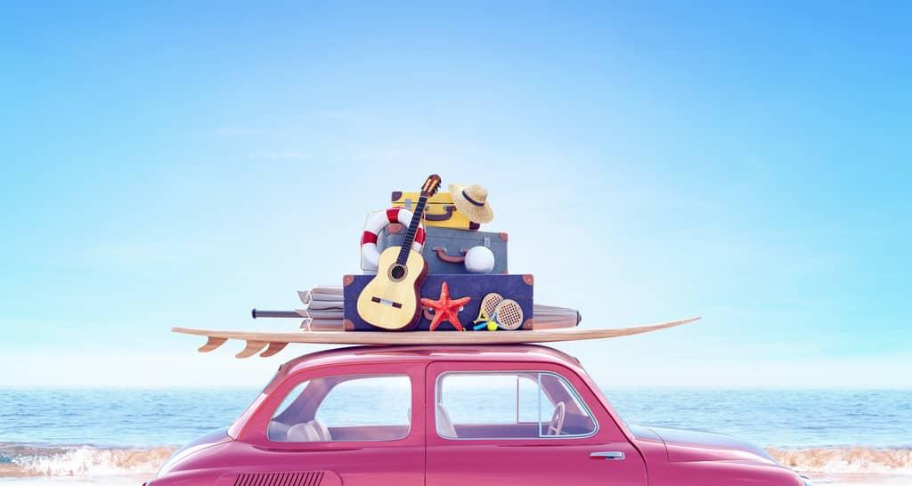 Auto mit Gepäck