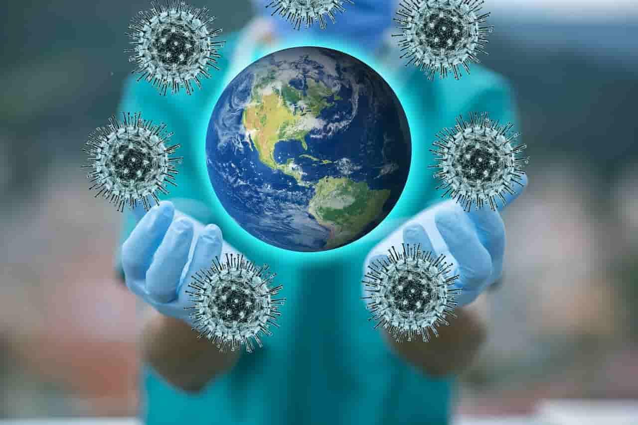 Coronavirus, Weltkugel