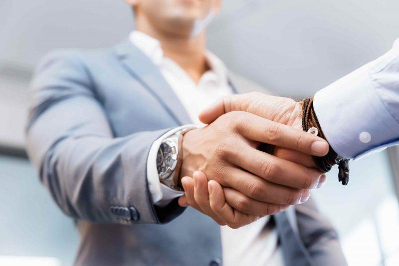 Handshake of businessmenoncepts