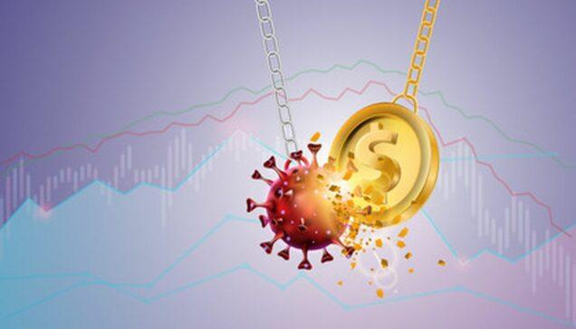 Dollar und Coronavirus Pendel