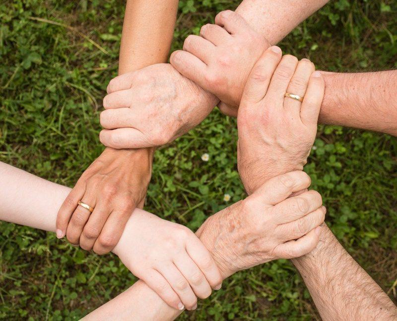 Hände Zusammenhalt
