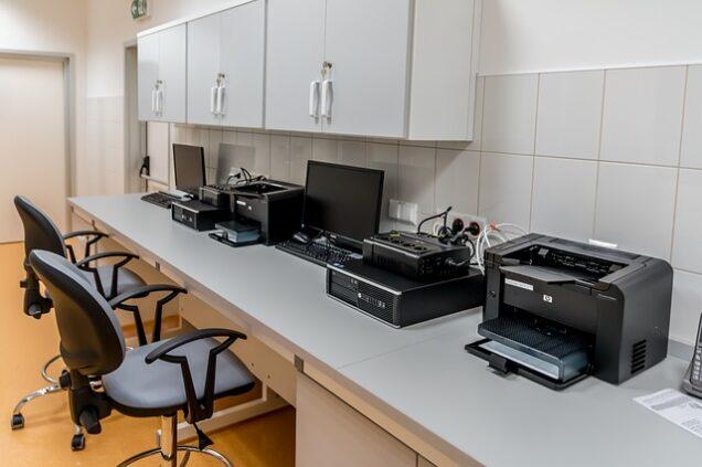 Drucker in einem Büro oder einer Arztpraxis