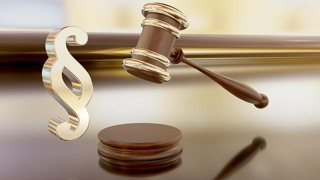 Gerichtshammer und Paragrafen-Zeichen