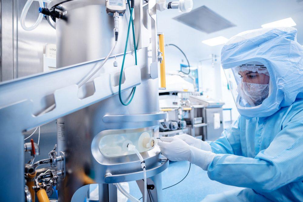 Impfstoff-Produktion bei Biontech in Marburg. Foto: Biontech