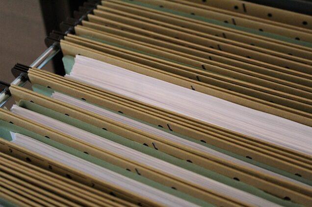 Unterlagen in Aktenmappen
