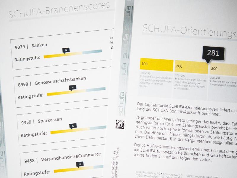Dokument über den Schufa-Orientierungswert