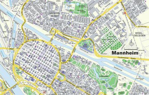 Karte von Mannheim