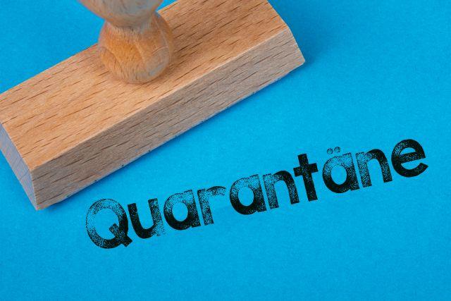 Stempel Quarantäne