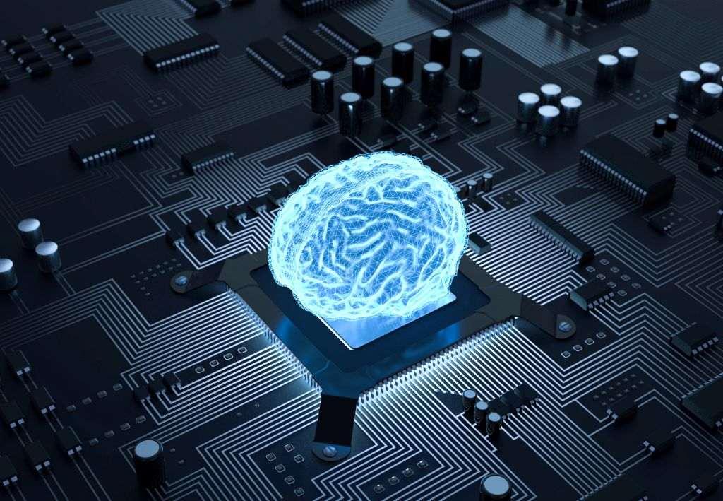 Gehirn auf einem Chip