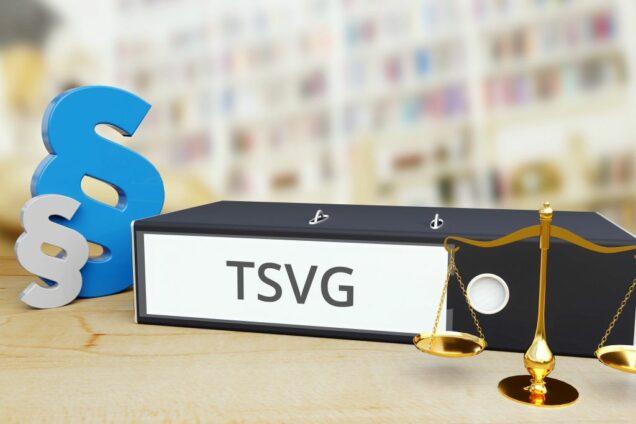 Ordner mit der Aufschrift TSVG